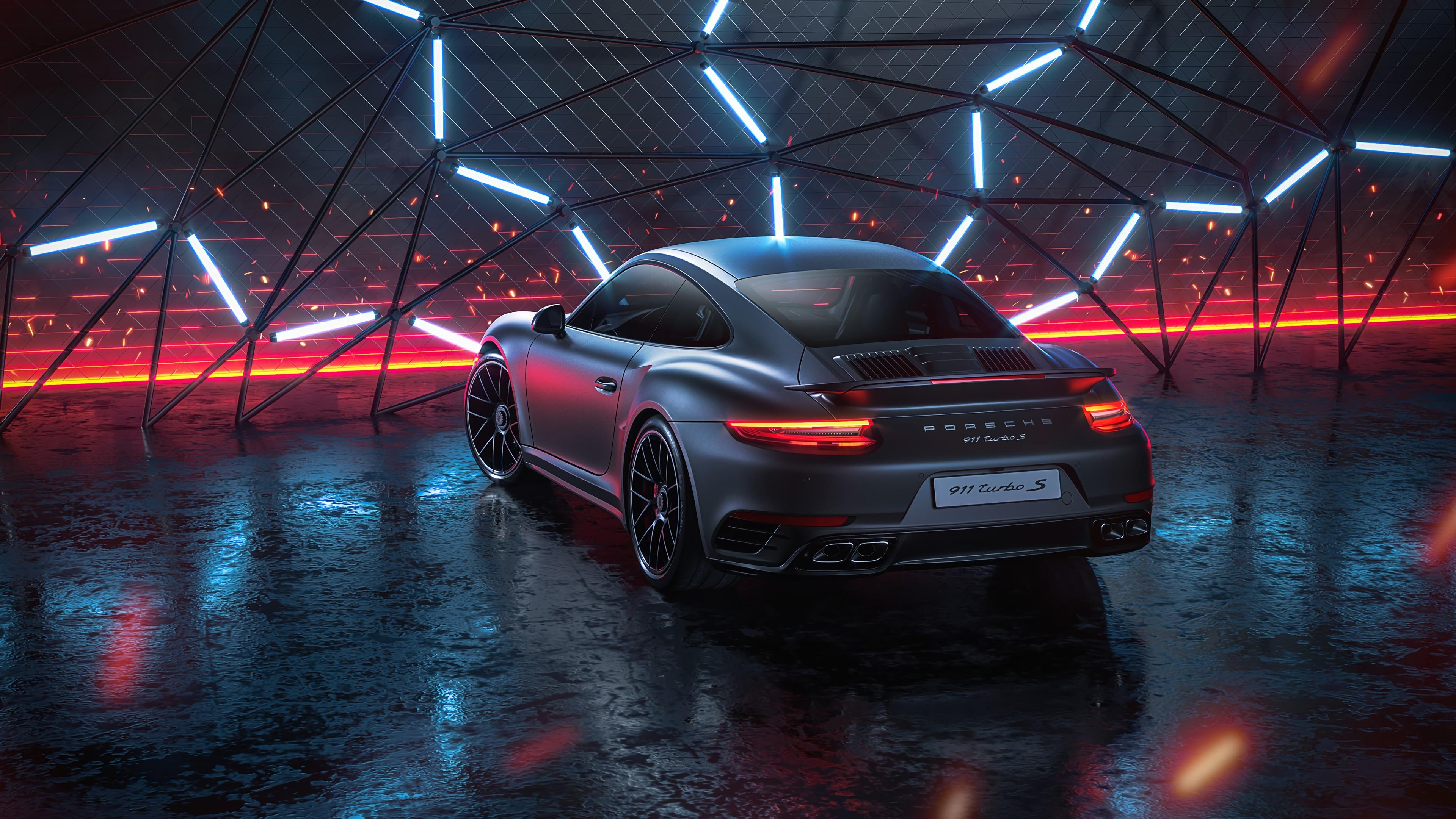 62756 Hintergrundbild herunterladen Auto, Porsche, Sport, Übernachtung, Cars, Maschine, Neon, Sportwagen, Porsche 911 Turbo S, Porsche 911 Turbos - Bildschirmschoner und Bilder kostenlos