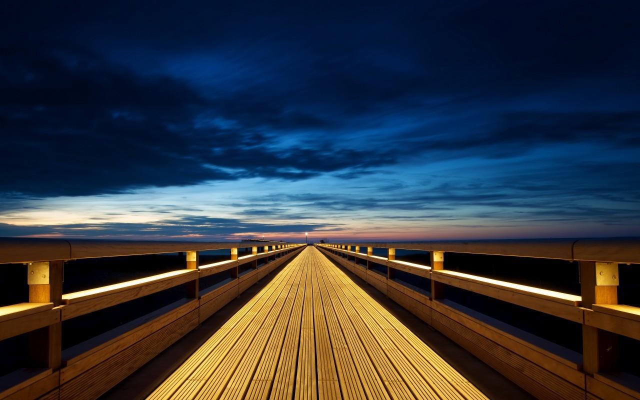 18083 скачать обои Пейзаж, Мосты, Закат, Небо - заставки и картинки бесплатно
