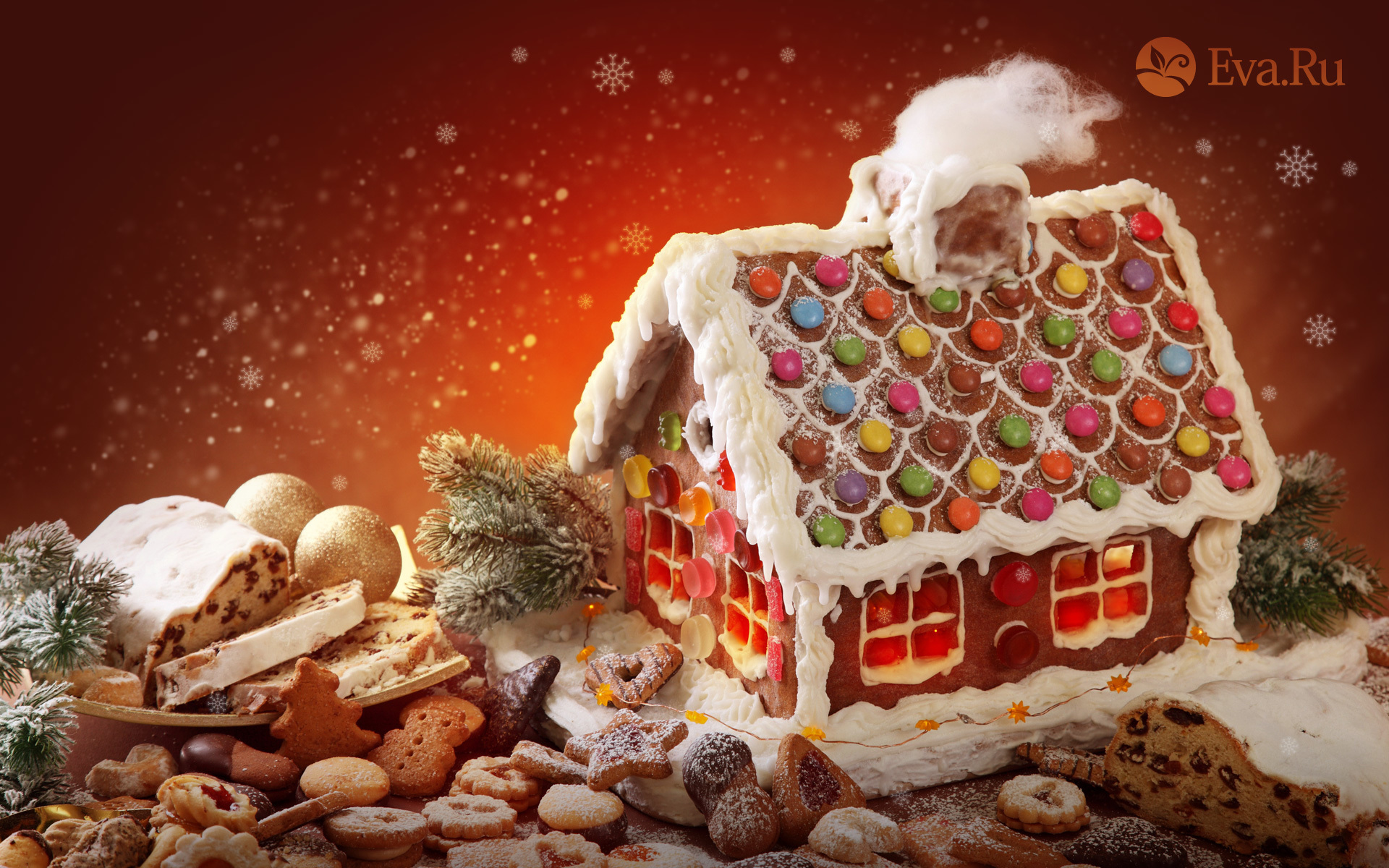 14083 скачать обои Еда, Новый Год (New Year), Десерты, Рождество (Christmas, Xmas) - заставки и картинки бесплатно