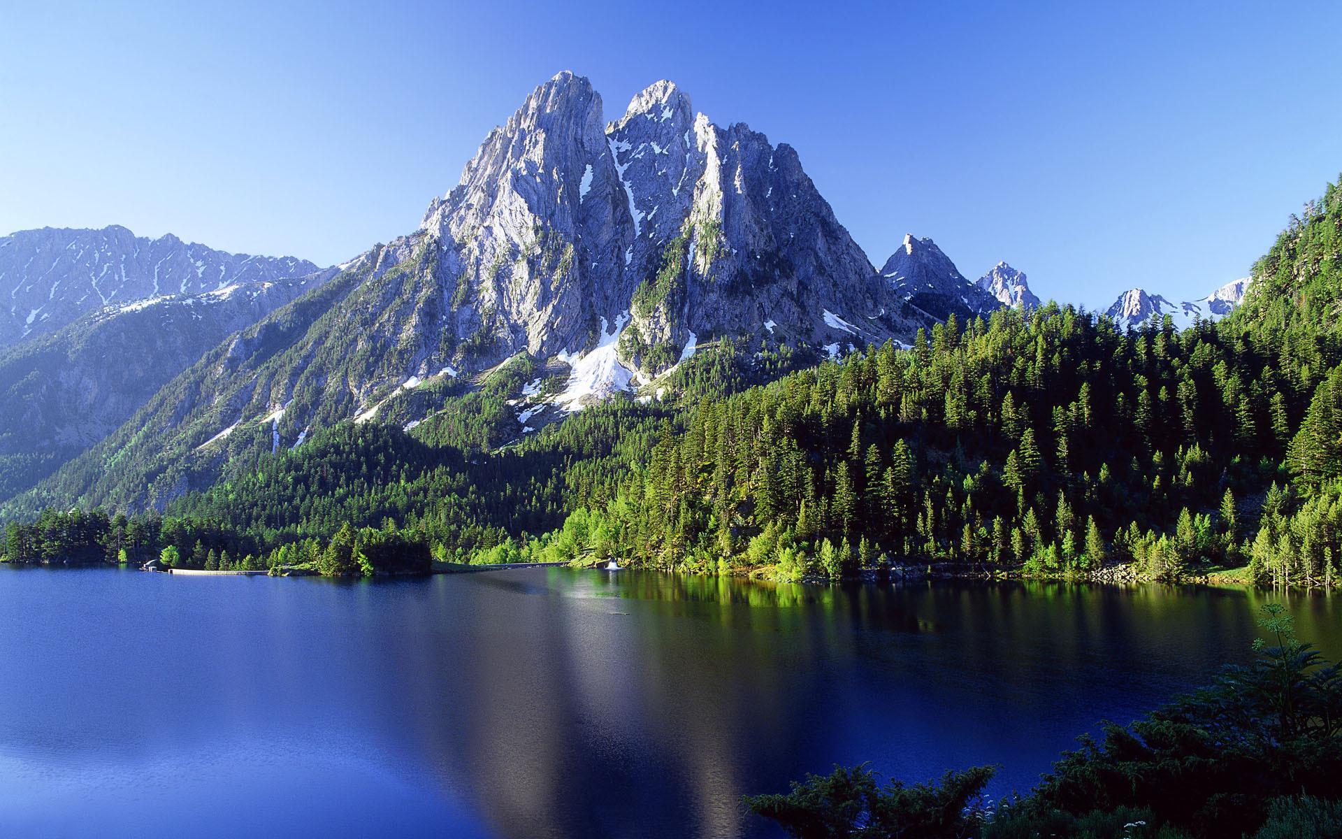 23140 скачать обои Пейзаж, Деревья, Горы, Озера - заставки и картинки бесплатно