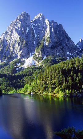 23140 télécharger le fond d'écran Paysage, Arbres, Montagnes, Lacs - économiseurs d'écran et images gratuitement