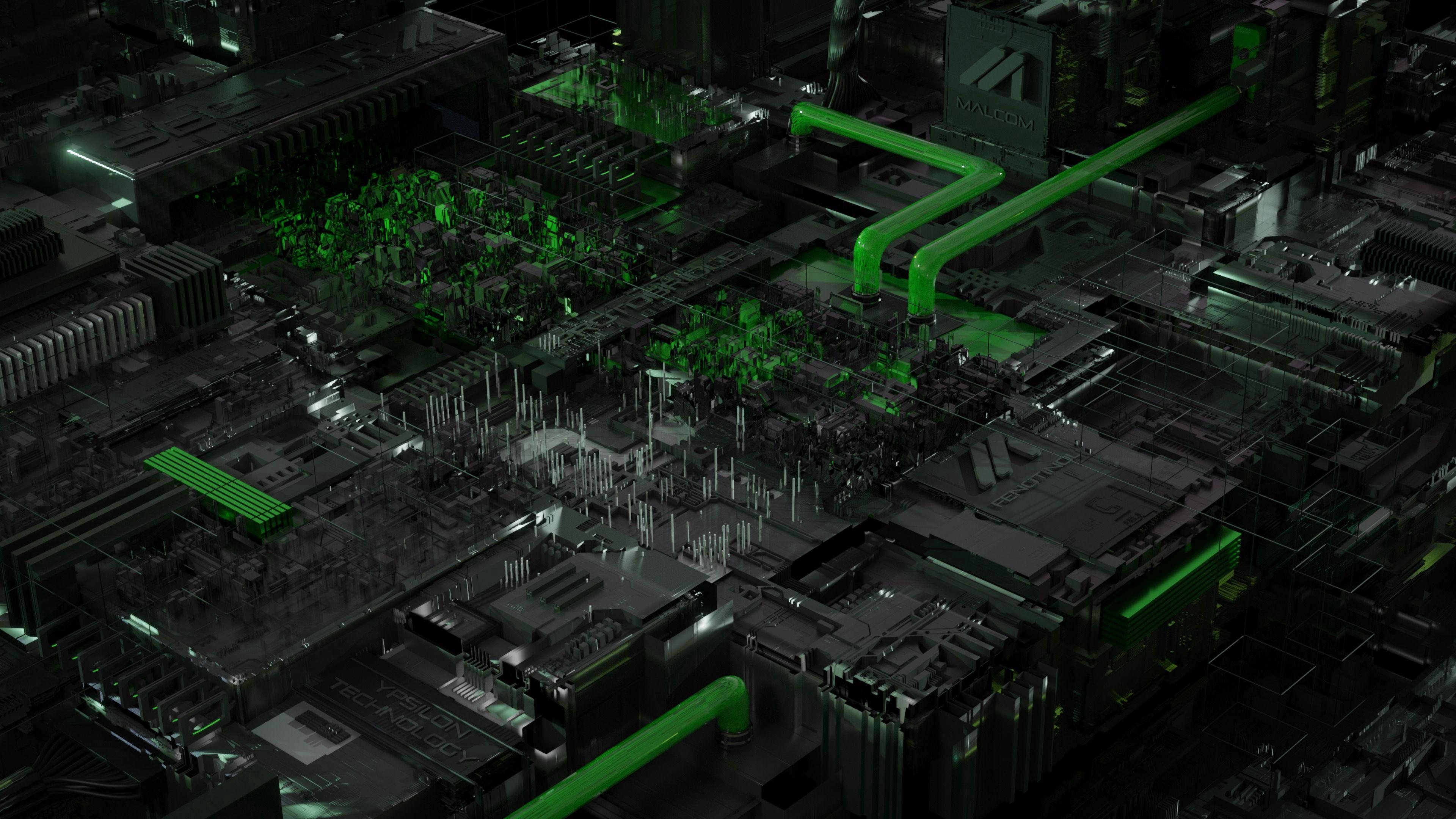 147532 Hintergrundbild herunterladen 3D, Chip, Zentralprozessor, Prozessor, Planen, Schema, Acid, Säure - Bildschirmschoner und Bilder kostenlos