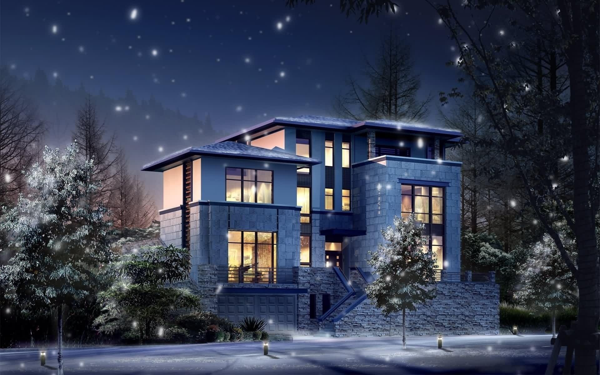 29453 скачать обои Пейзаж, Зима, Дома, Архитектура - заставки и картинки бесплатно