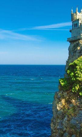 12443 скачать обои Пейзаж, Море, Архитектура, Замки - заставки и картинки бесплатно