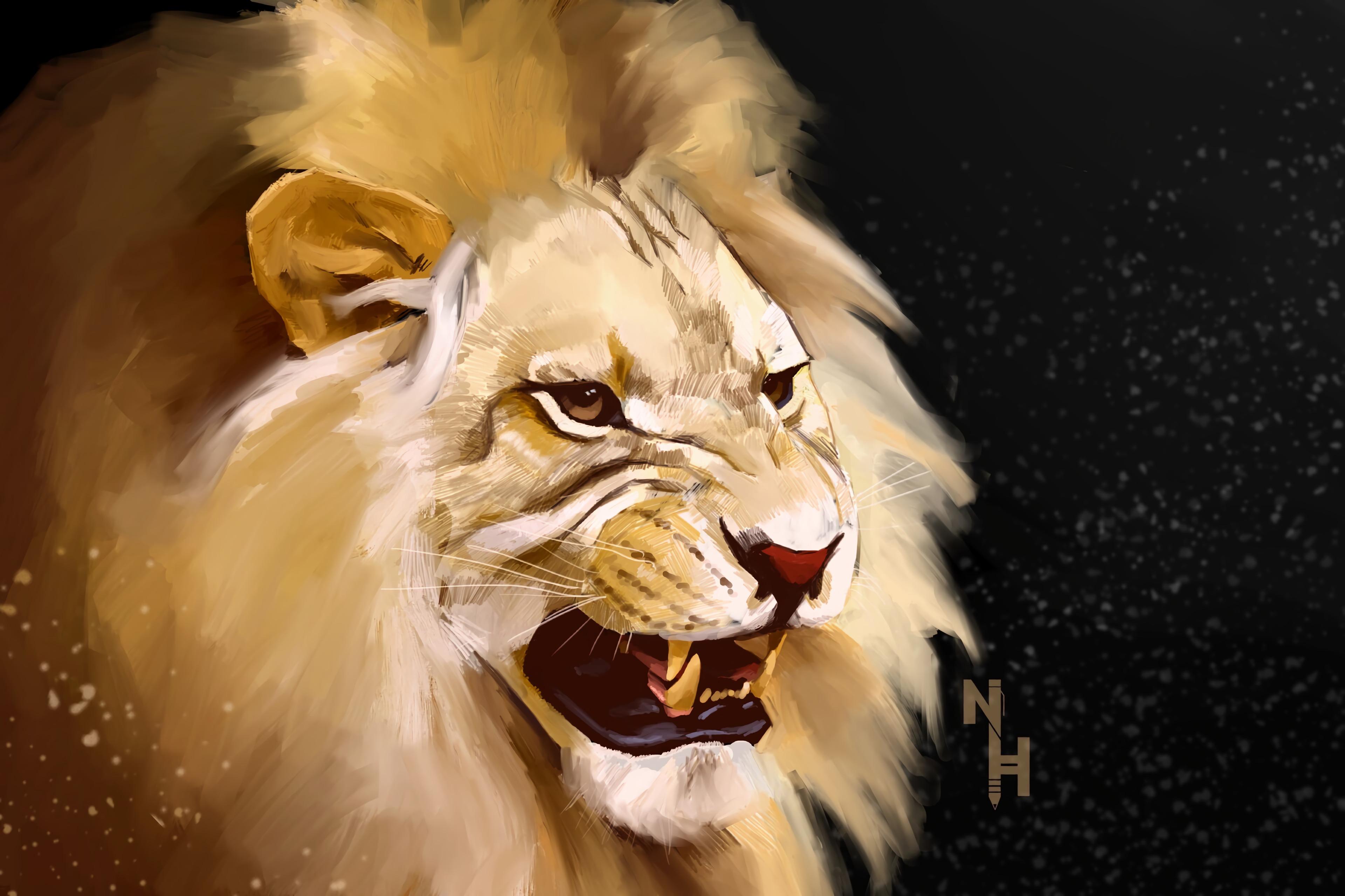 78852 Protetores de tela e papéis de parede Rei Das Feras em seu telefone. Baixe Arte, Leão, Sorriso, Um Leão, Predator, Predador, Rei Das Feras, Rei Das Bestas fotos gratuitamente