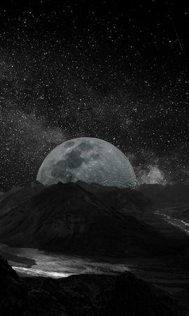 77106 baixar papel de parede Lua, Planeta, Galáxia, Universo, Estrelas - protetores de tela e imagens gratuitamente