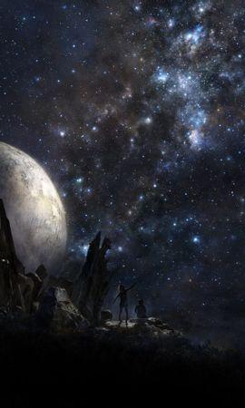お使いの携帯電話の91928スクリーンセーバーと壁紙ピープル。 ピープル, 惑星, アート, スター, 宇宙の写真を無料でダウンロード
