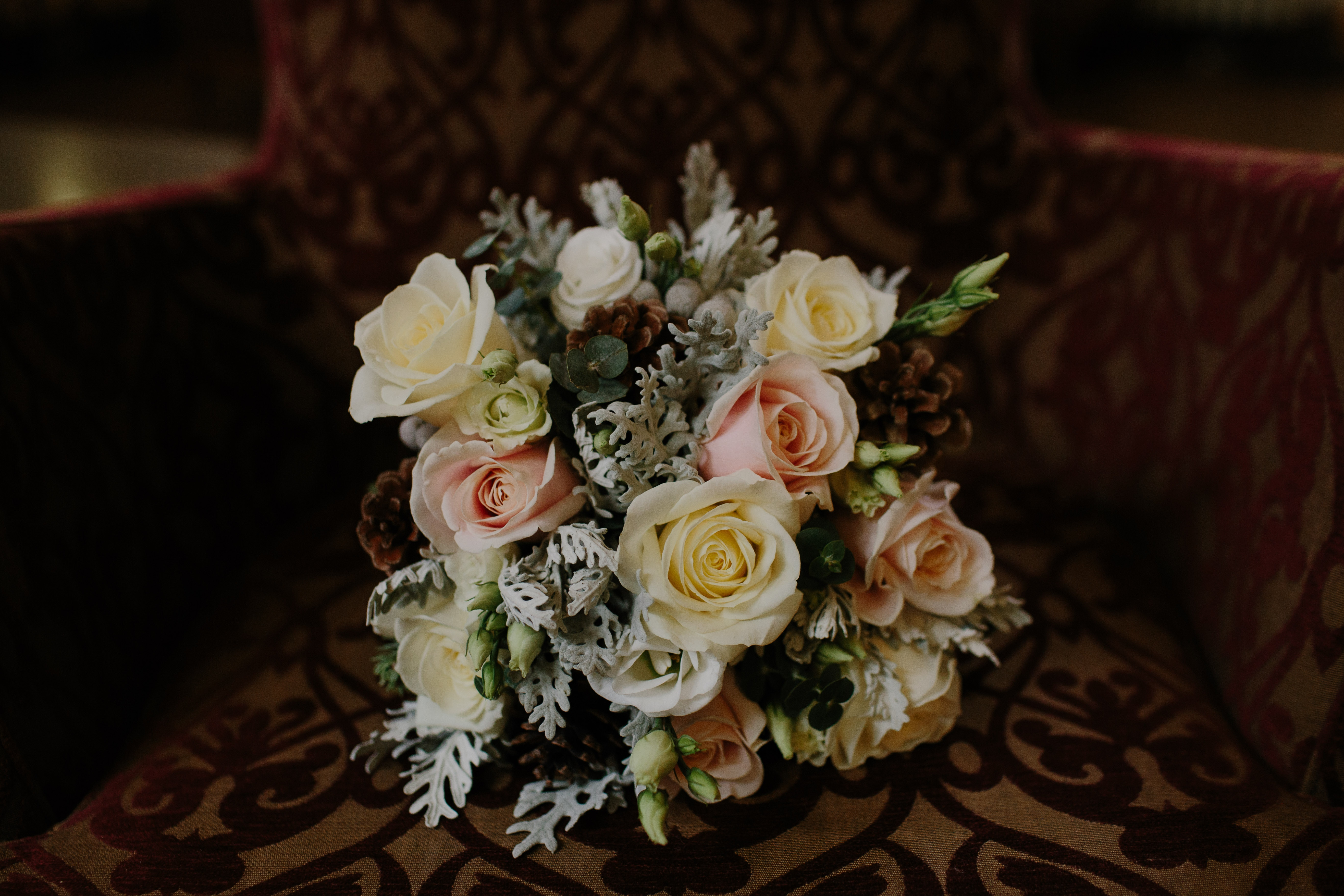 144940 download wallpaper Flowers, Roses, Registration, Typography, Bouquet, Composition screensavers and pictures for free