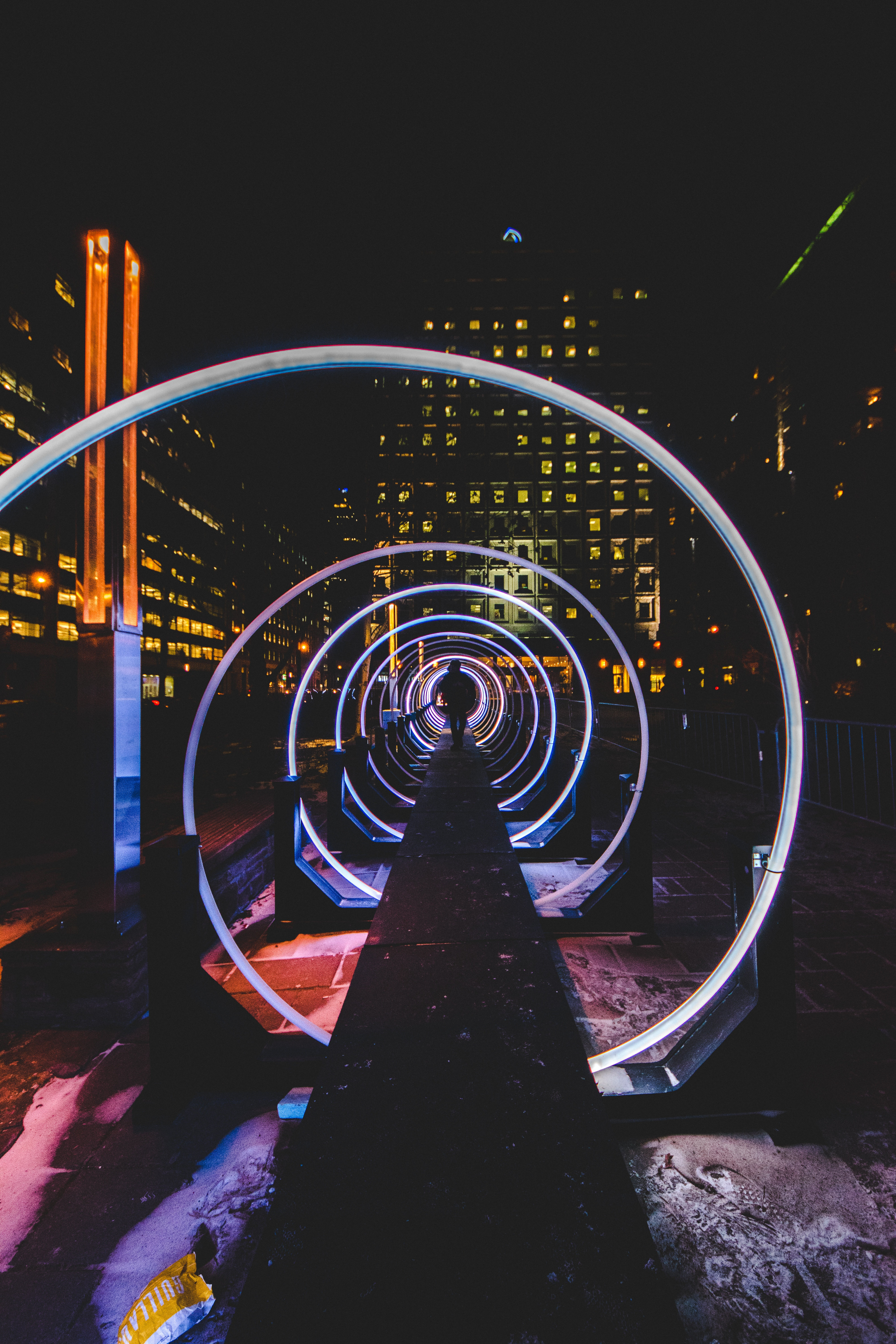 54774 Screensavers and Wallpapers Human for phone. Download Cities, Night, City, Silhouette, Human, Person, Tunnel pictures for free