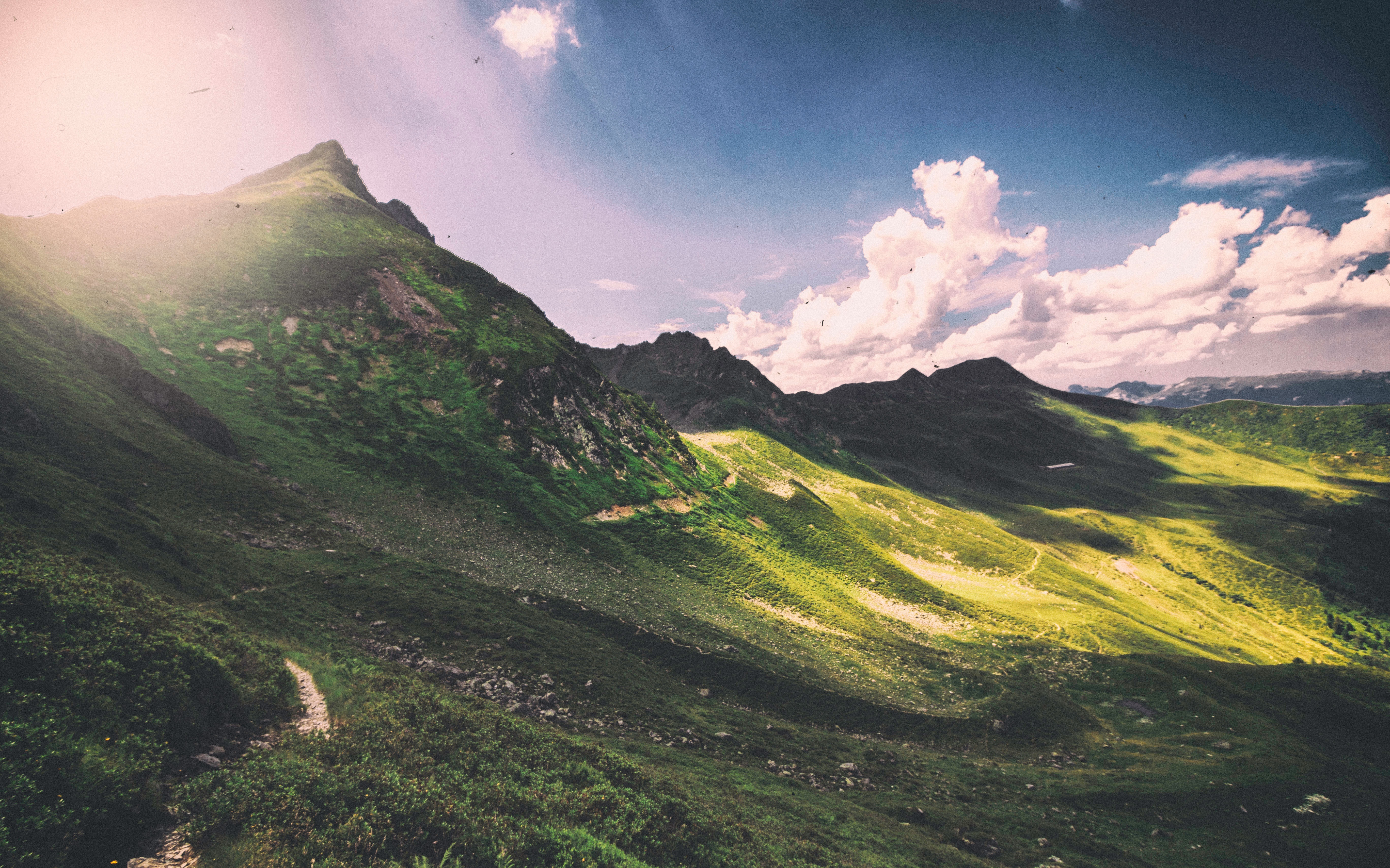 80070 download wallpaper Nature, Panorama, Clouds, Mountains screensavers and pictures for free