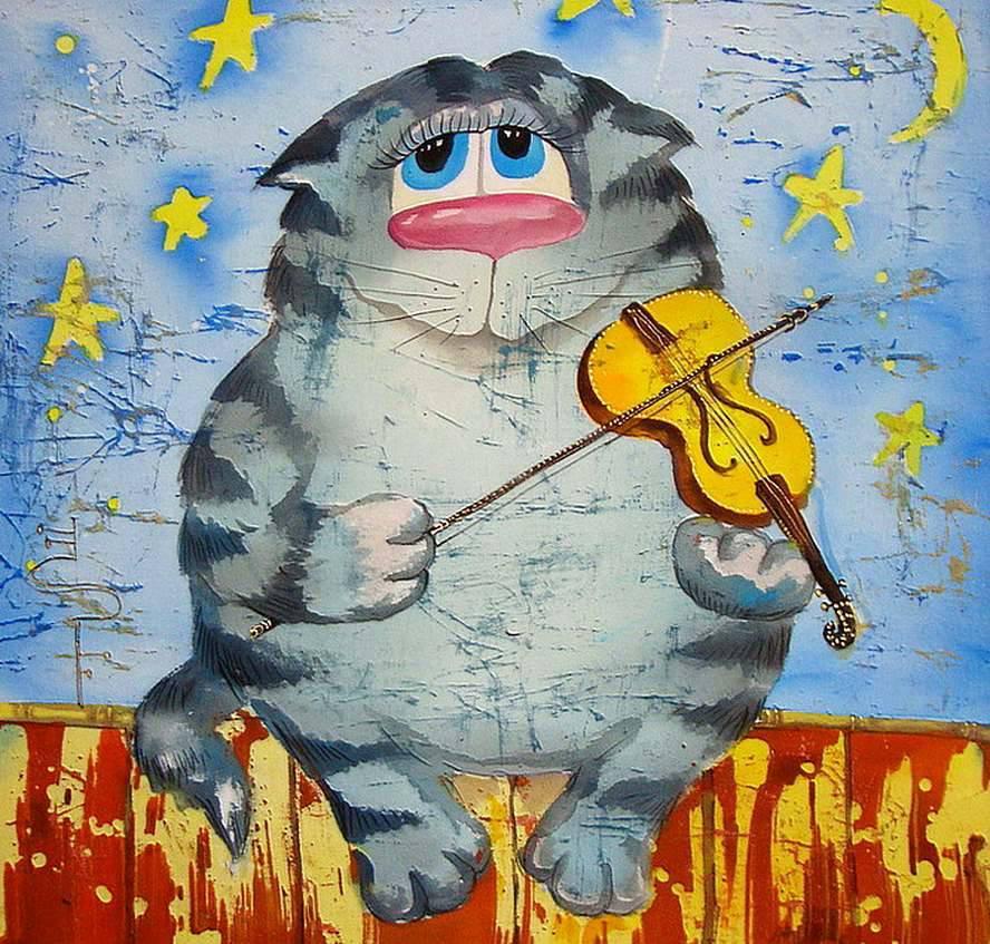 19552 скачать обои Животные, Кошки (Коты, Котики), Рисунки - заставки и картинки бесплатно