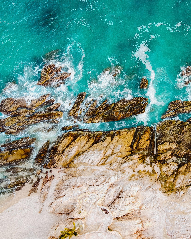 119866 Заставки и Обои Вода на телефон. Скачать Вода, Природа, Море, Волны, Скалы, Вид Сверху картинки бесплатно