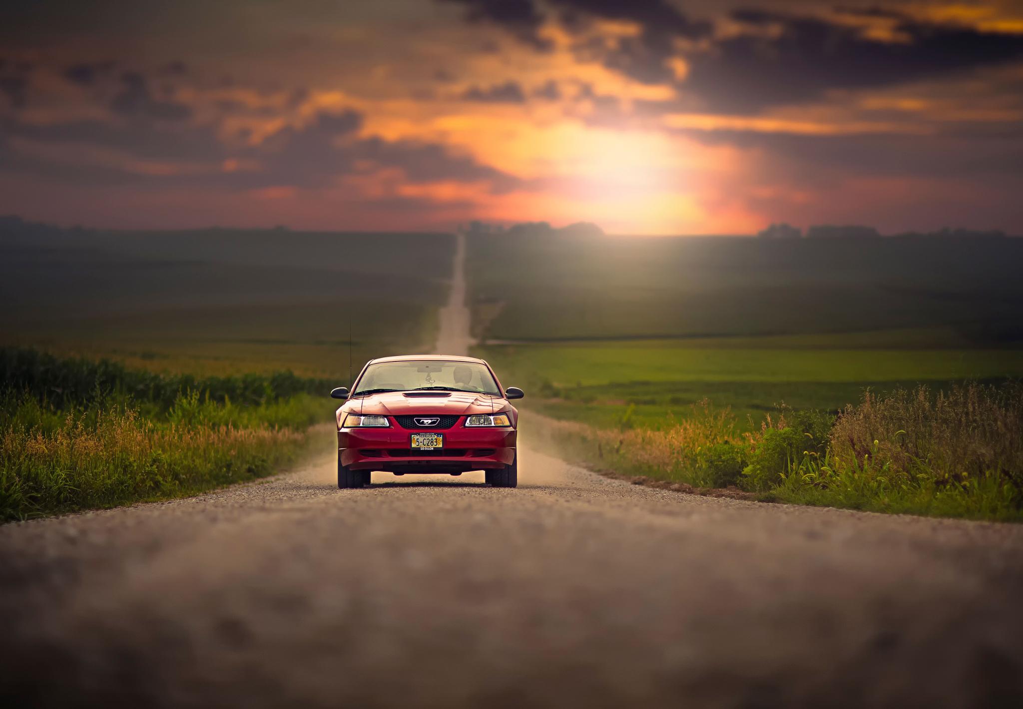 150711 descargar fondo de pantalla Coches, Ford Mustang, Vado, Automóvil, Tráfico, Movimiento, Camino: protectores de pantalla e imágenes gratis