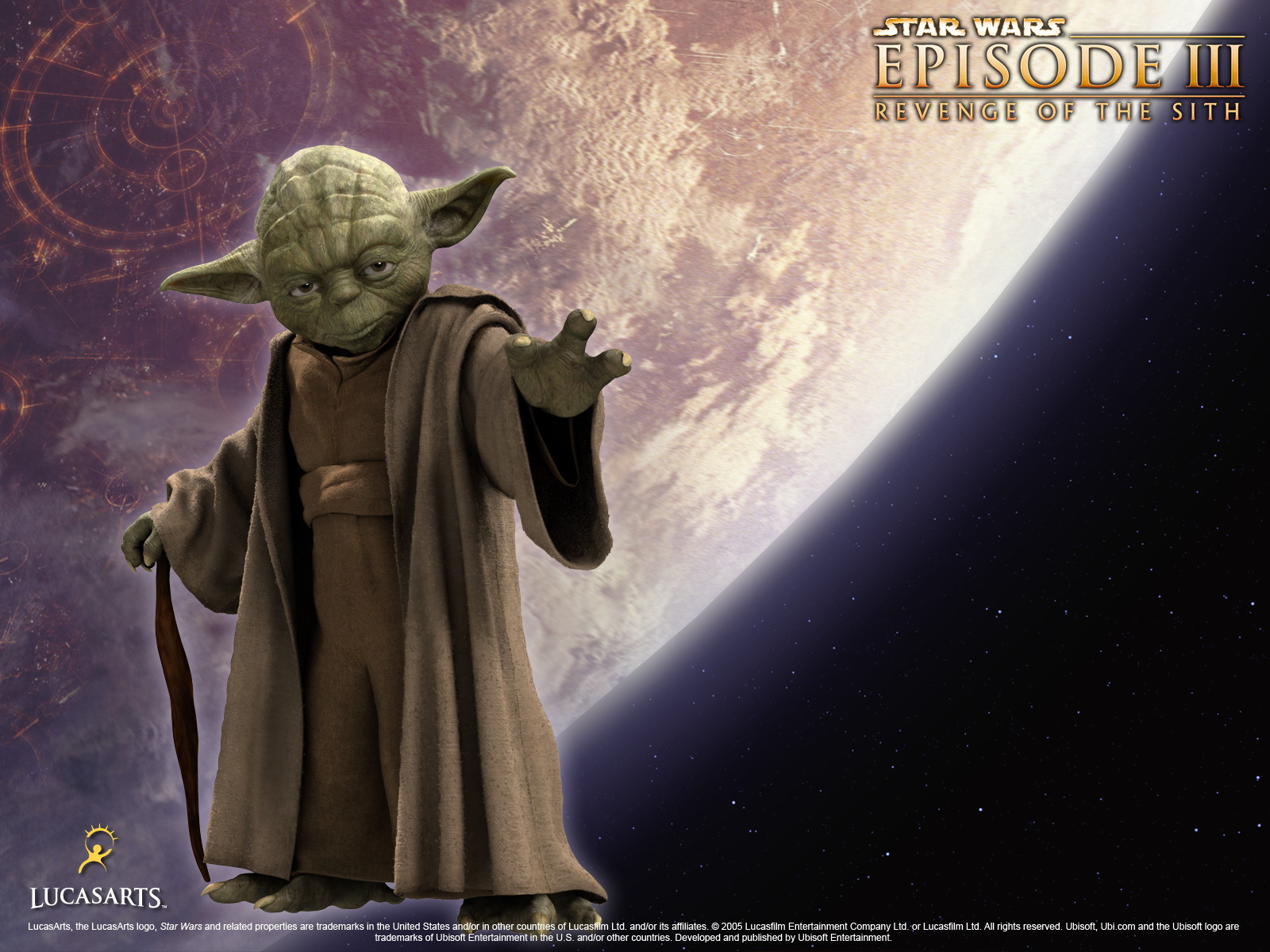 10690 download wallpaper Cinema, Star Wars, Master Yoda screensavers and pictures for free