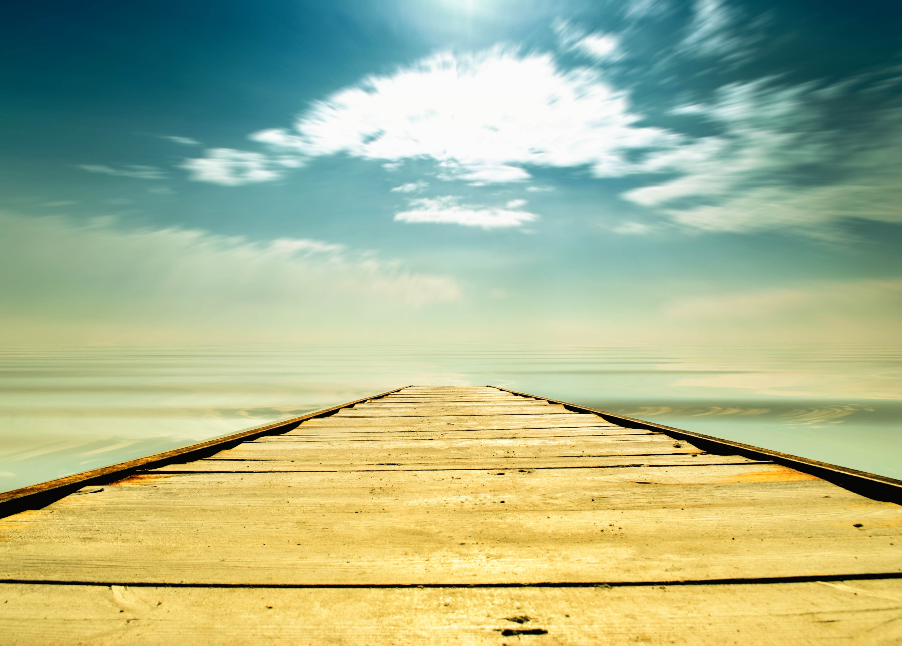 139379 download wallpaper Nature, Track, Sky, Pier, Planks, Board, Way, Path, Choice, Straight, Straight Line screensavers and pictures for free