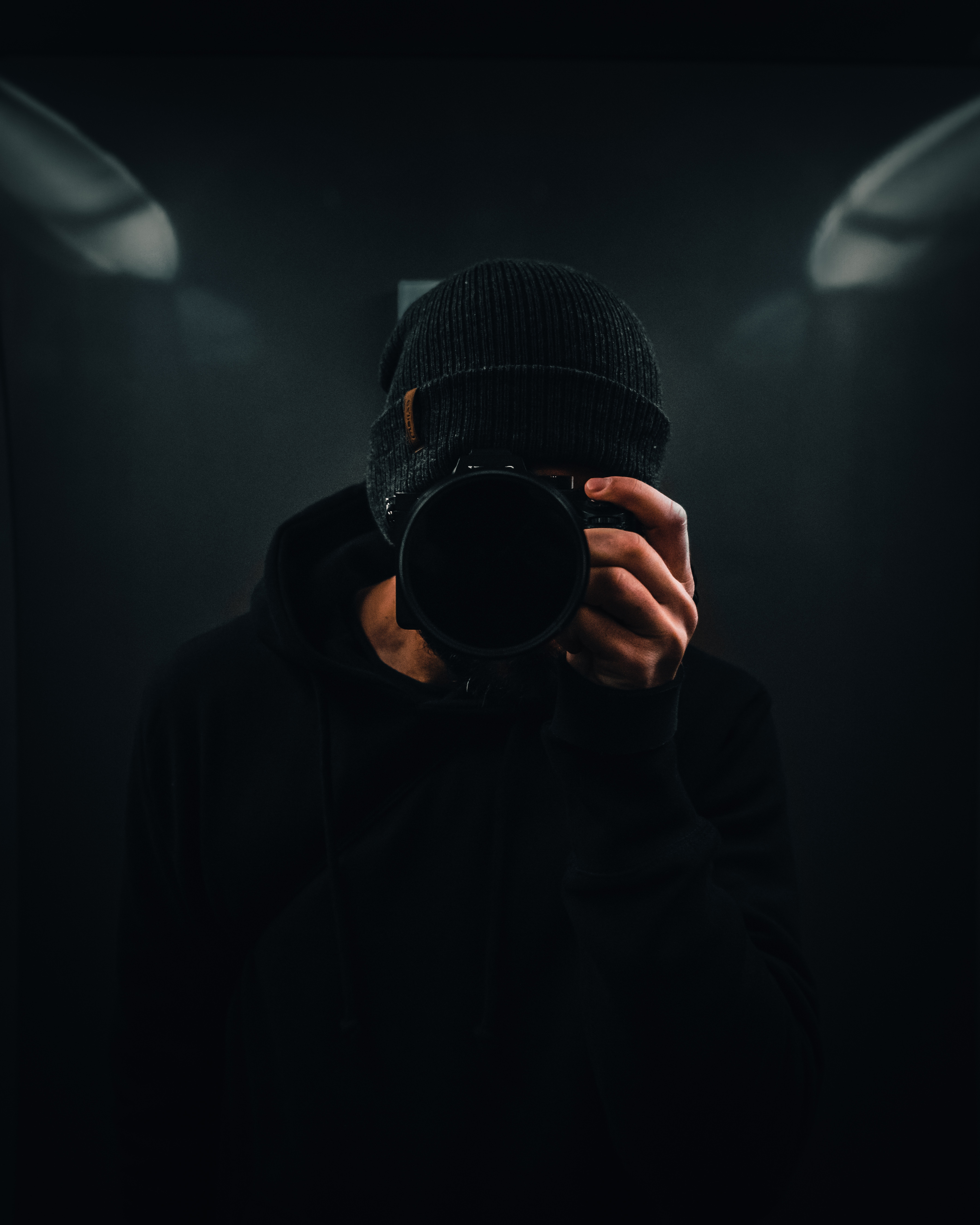 119219 download wallpaper Dark, Photographer, Camera screensavers and pictures for free
