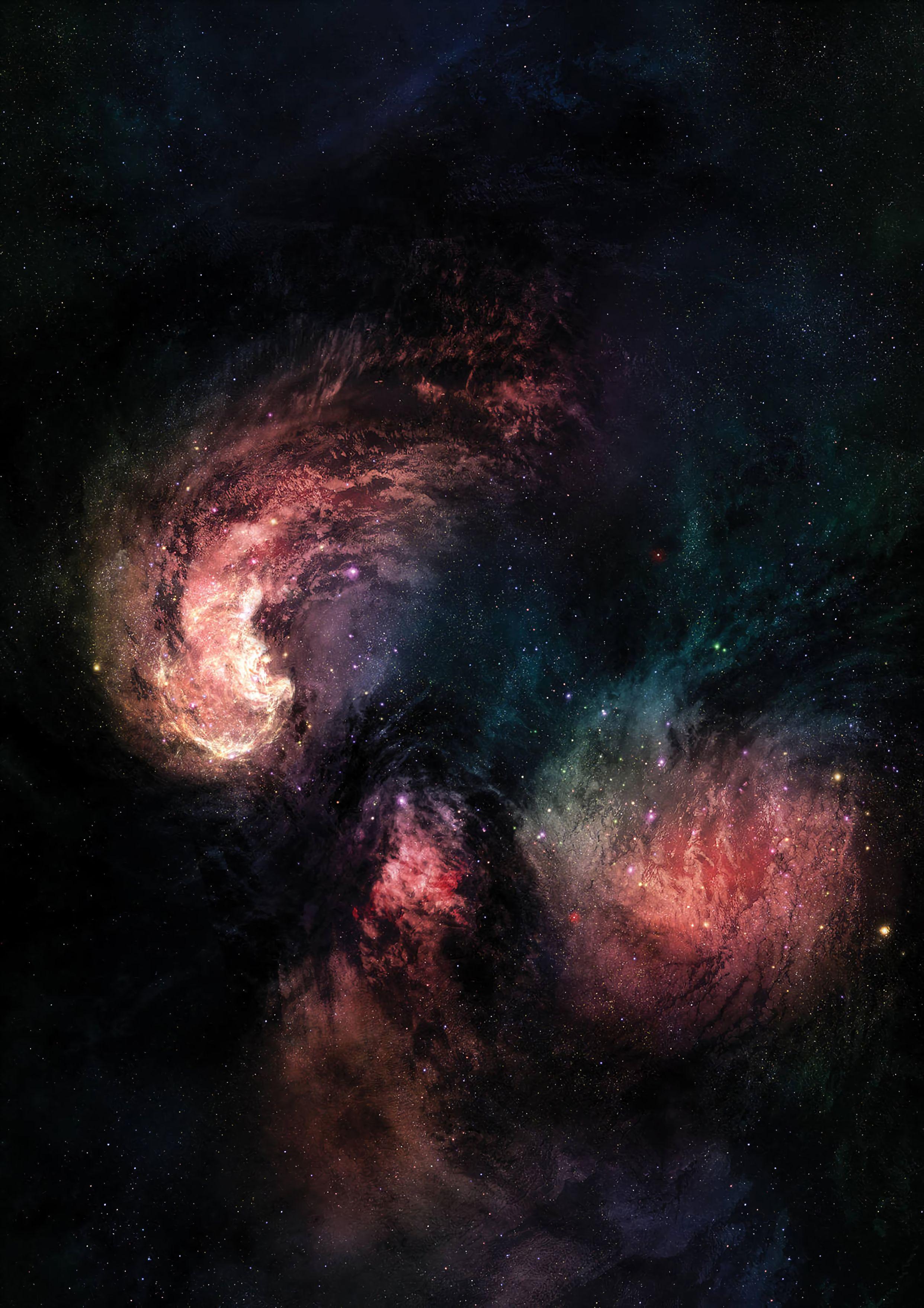 129640 Hintergrundbild 128x160 kostenlos auf deinem Handy, lade Bilder Universum, Sterne, Scheinen, Hell, Mehrfarbig, Motley, Sternenhimmel, Brillanz, Universe, Galaxis, Galaxy 128x160 auf dein Handy herunter