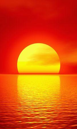 21928 baixe gratuitamente papéis de parede de Vermelho para seu telefone, Paisagem, Pôr Do Sol, Mar, Sol imagens e protetores de tela de Vermelho para seu celular