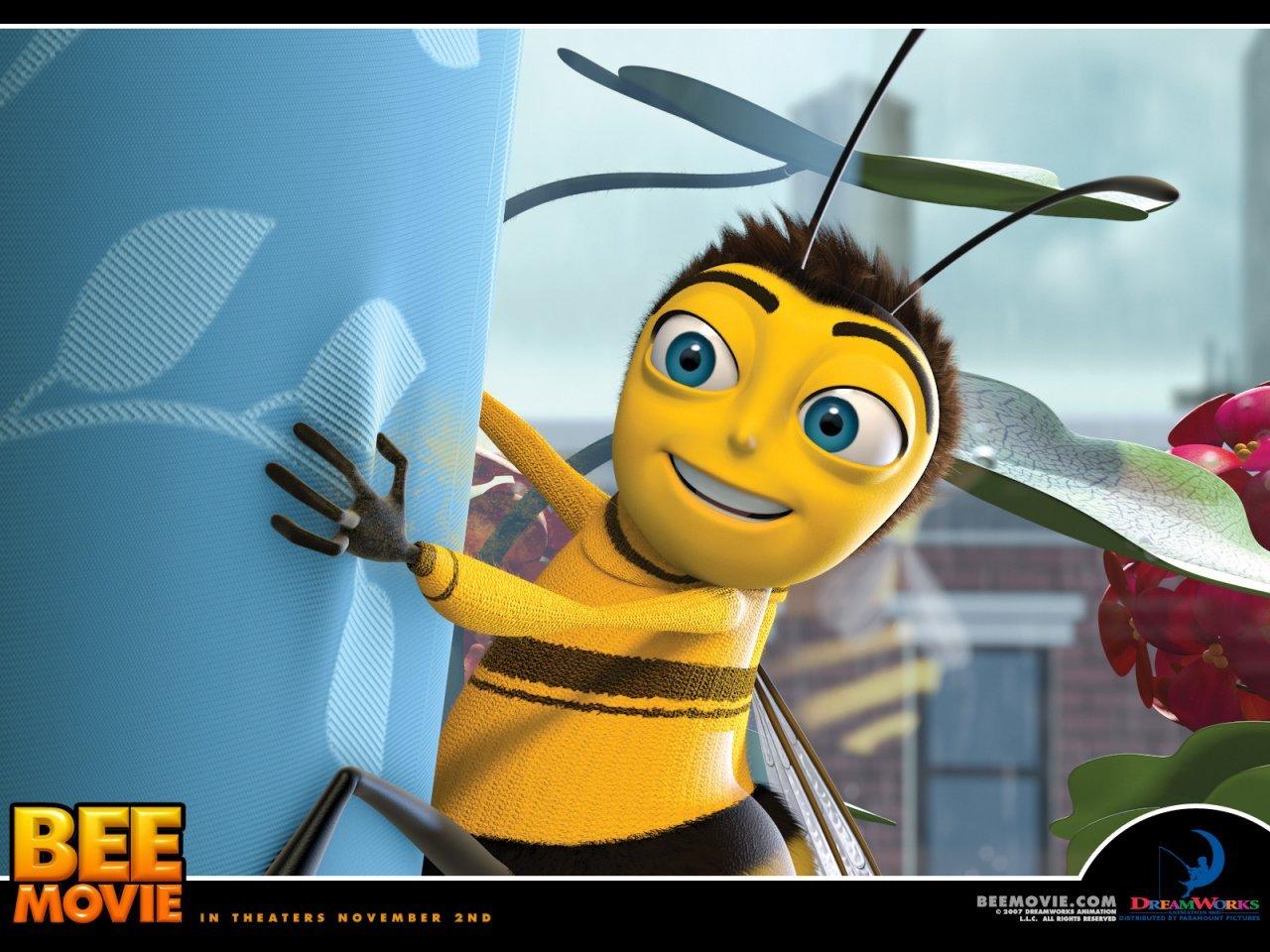 10113 Hintergrundbild herunterladen Cartoon, Insekten, Bienen, Bee Movie - Bildschirmschoner und Bilder kostenlos