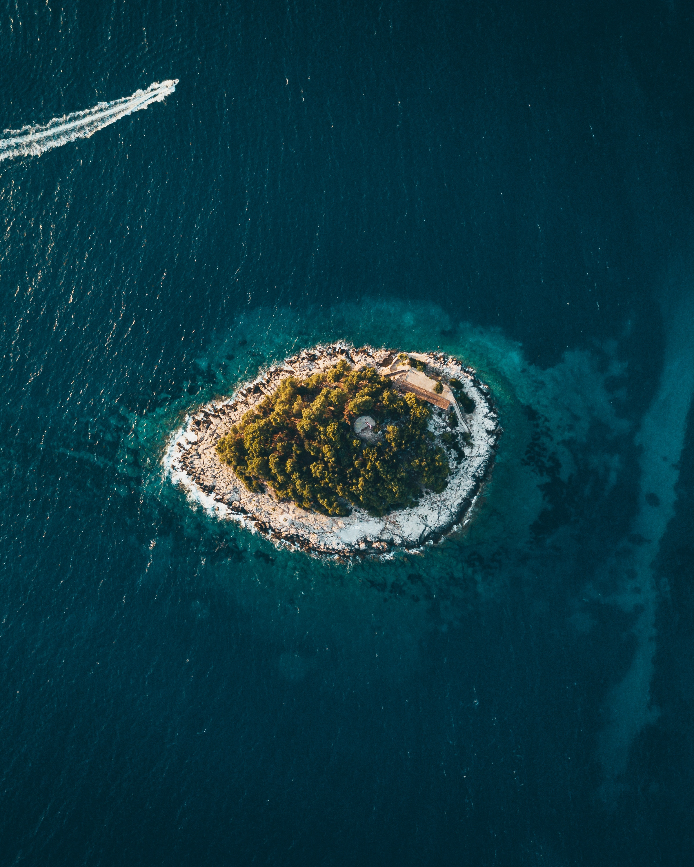 129670 Screensavers and Wallpapers Island for phone. Download Nature, Sea, View From Above, Island, Croatia, Hvar pictures for free