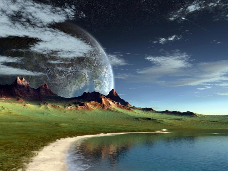 30196 télécharger le fond d'écran Paysage, Fantaisie, Planètes, Montagnes - économiseurs d'écran et images gratuitement