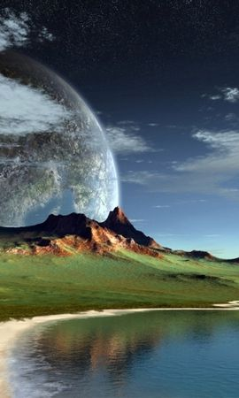 30196 скачать обои Пейзаж, Фэнтези, Планеты, Горы - заставки и картинки бесплатно