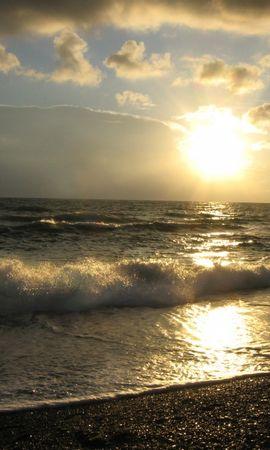 28697 скачать обои Пейзаж, Закат, Море, Пляж - заставки и картинки бесплатно
