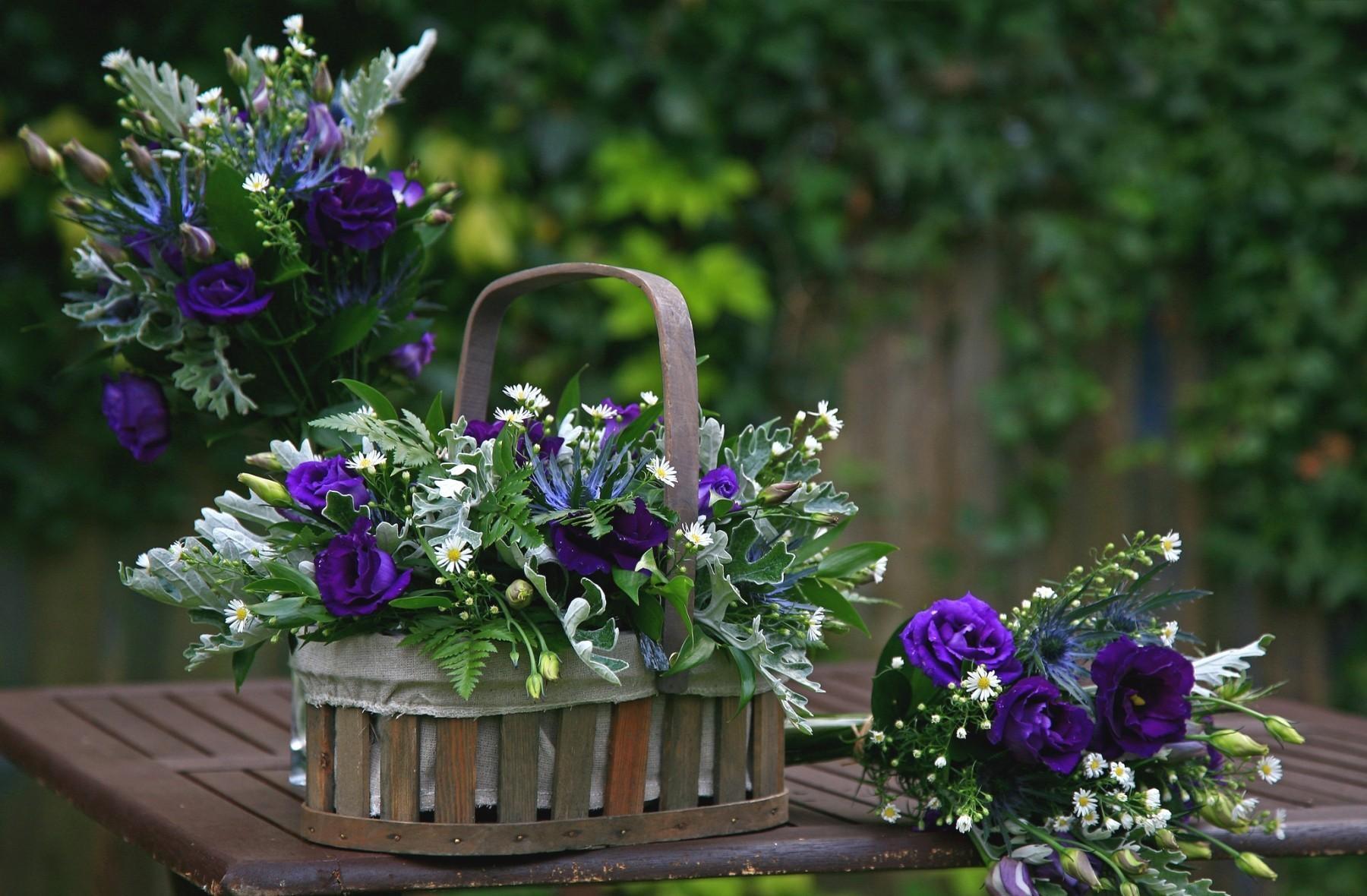 104410 télécharger le fond d'écran Fleurs, Camomille, Panier, Tableau, Table, Légumes Verts, Verdure, Composition, Roses, Bouquets - économiseurs d'écran et images gratuitement