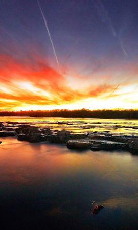 36053 скачать обои Пейзаж, Река, Закат - заставки и картинки бесплатно