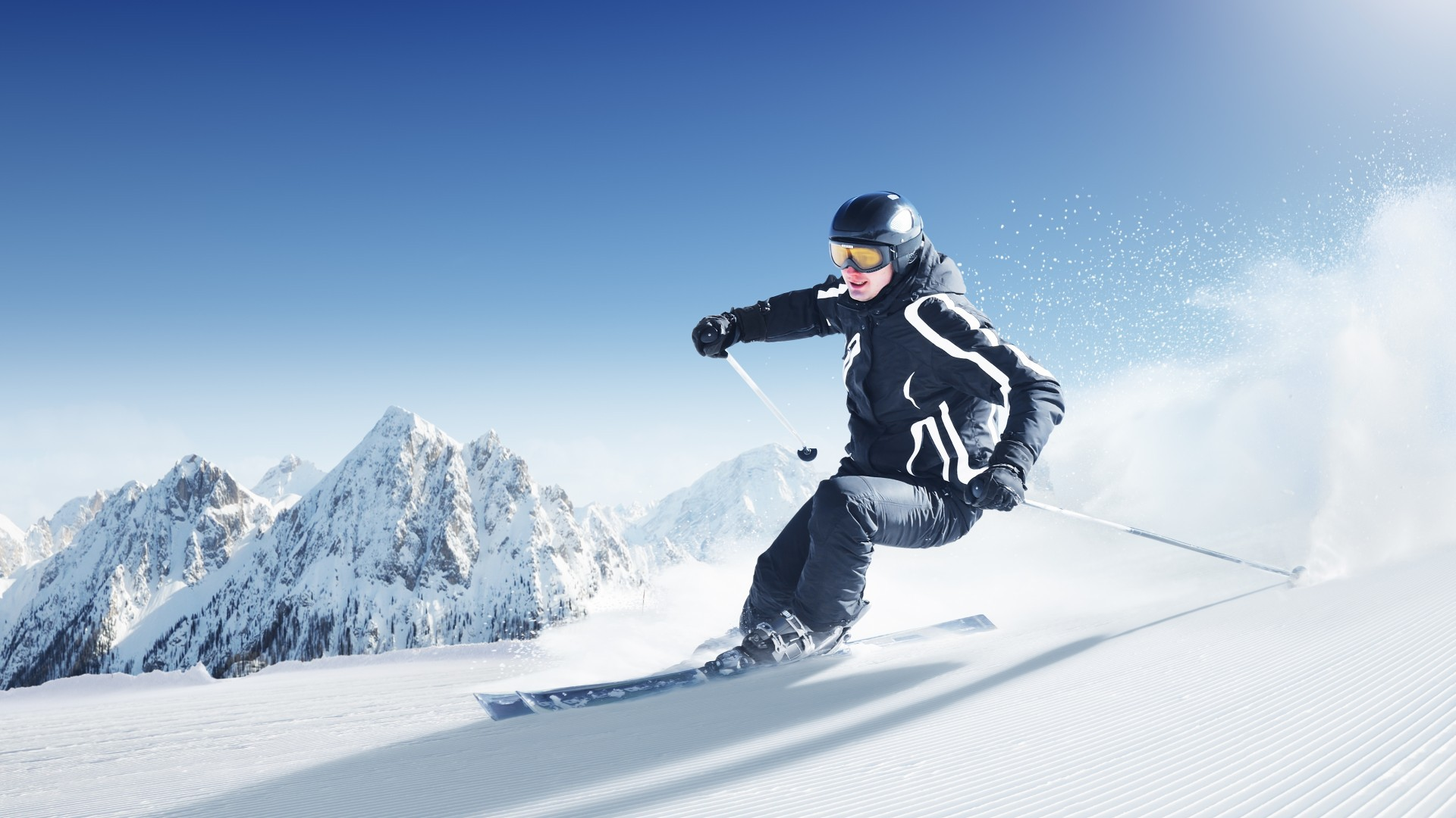 32211 download wallpaper Sports, People, Mountains, Snow screensavers and pictures for free