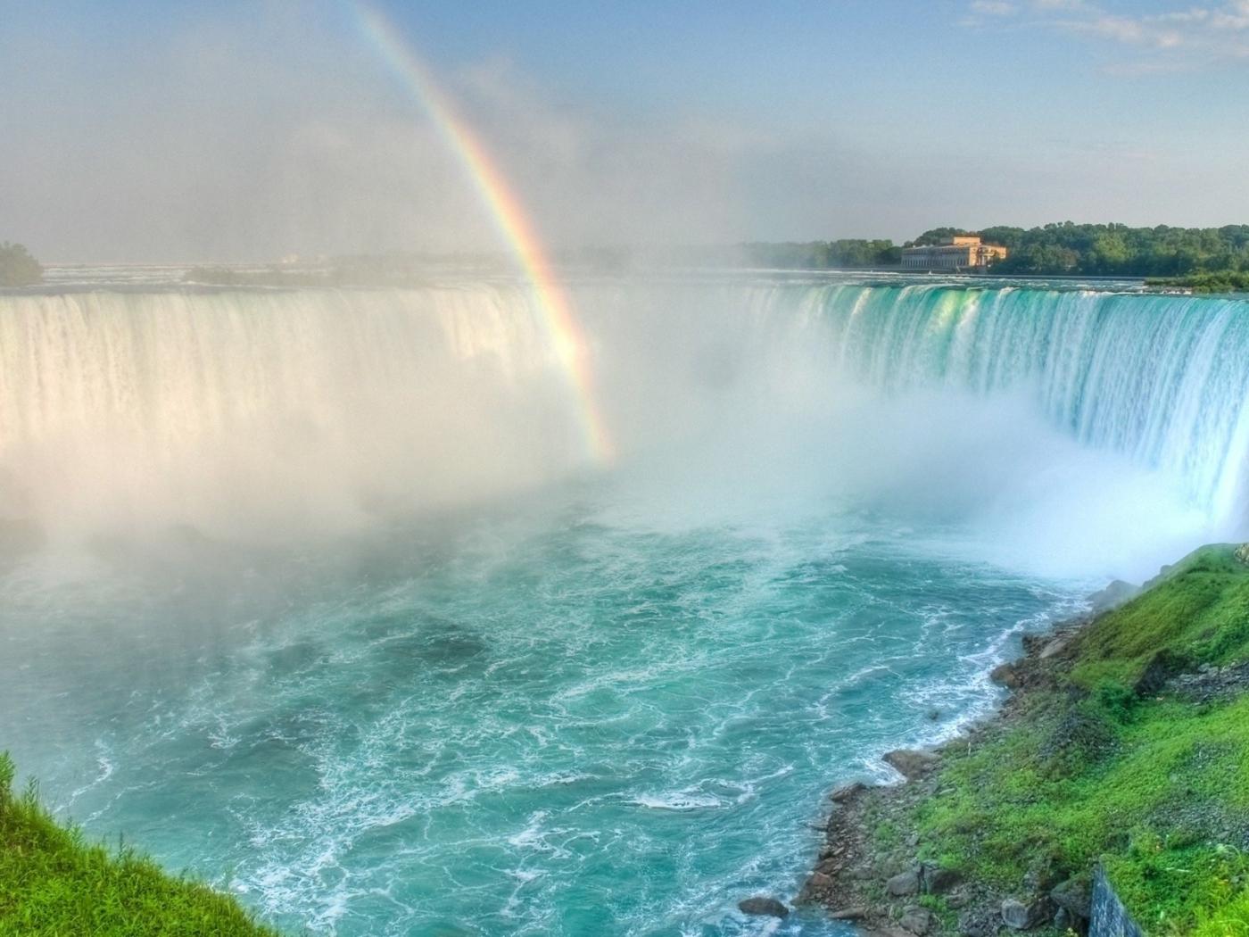 36099 免費下載壁紙 景观, 瀑布, 彩虹 屏保和圖片