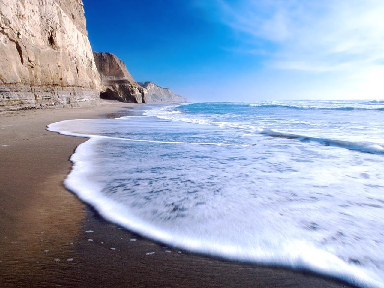 27384 скачать обои Пейзаж, Море, Волны, Пляж - заставки и картинки бесплатно