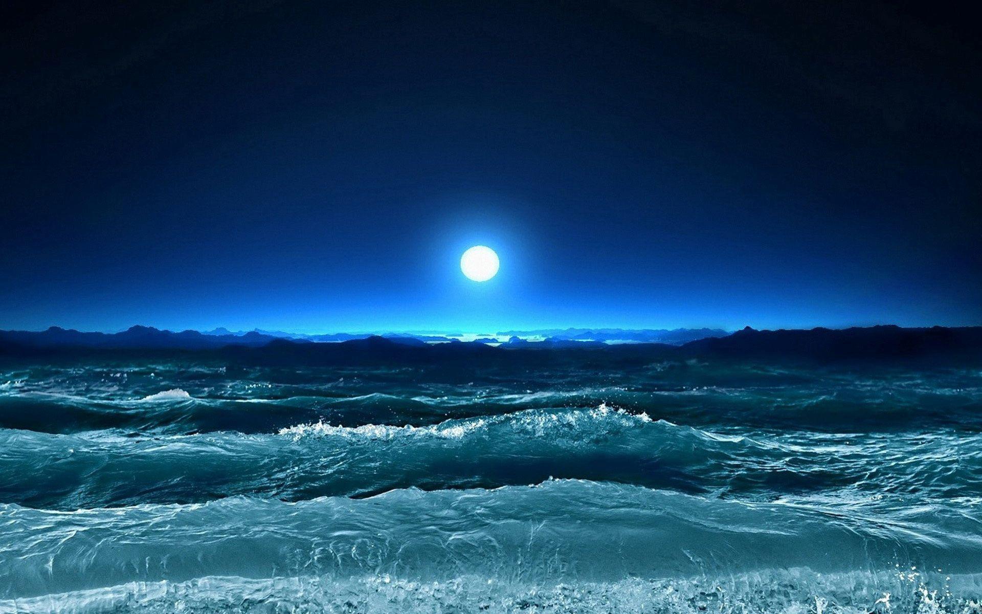 62130 Заставки и Обои Волны на телефон. Скачать Природа, Шторм, Море, Луна, Ночь, Искусство, Волны картинки бесплатно