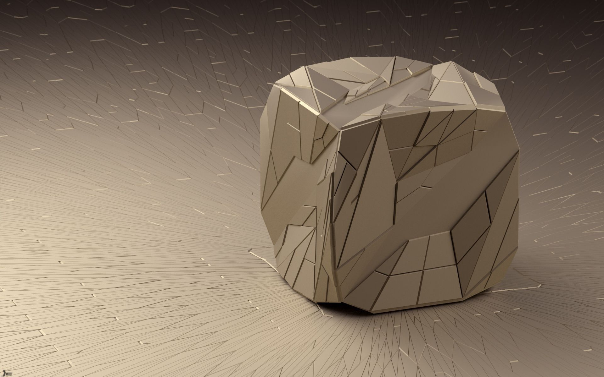 63119 download wallpaper 3D, Art, Cube, Lines, Render, Figure, Triangles, Facets, Face screensavers and pictures for free