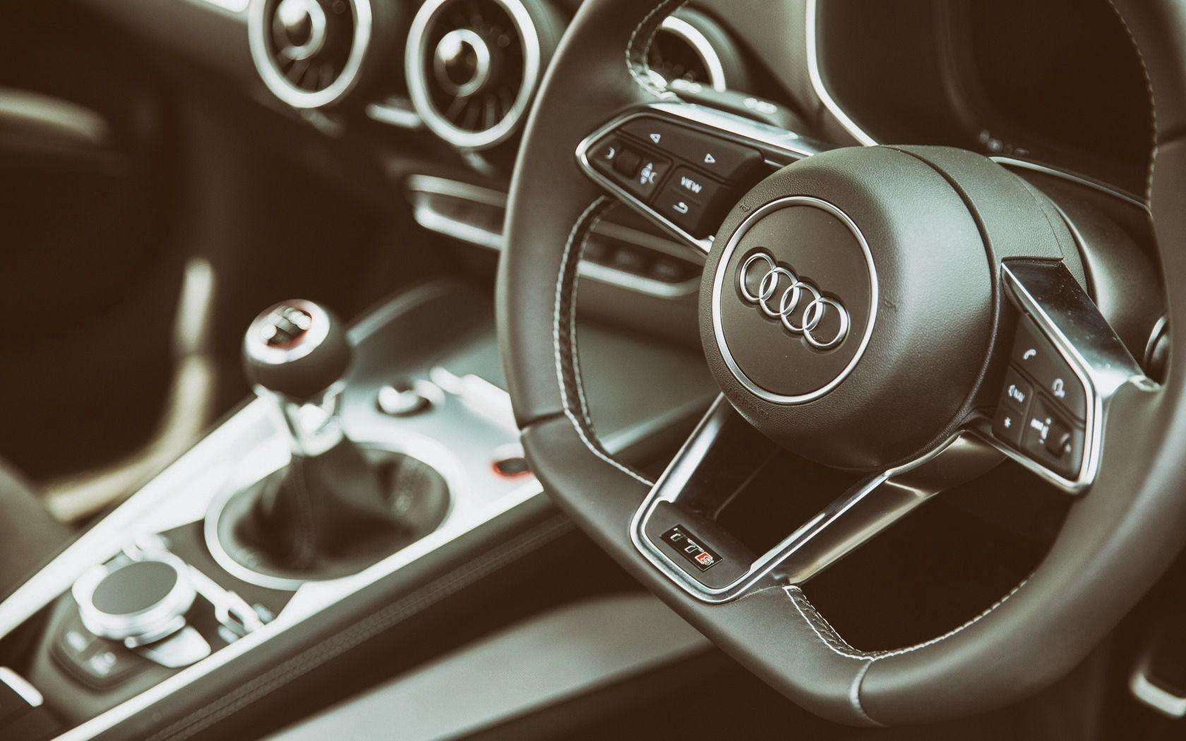 59741 Hintergrundbild herunterladen Audi, Cars, Lenkrad, Ruder, Salon, Logo, Tts - Bildschirmschoner und Bilder kostenlos