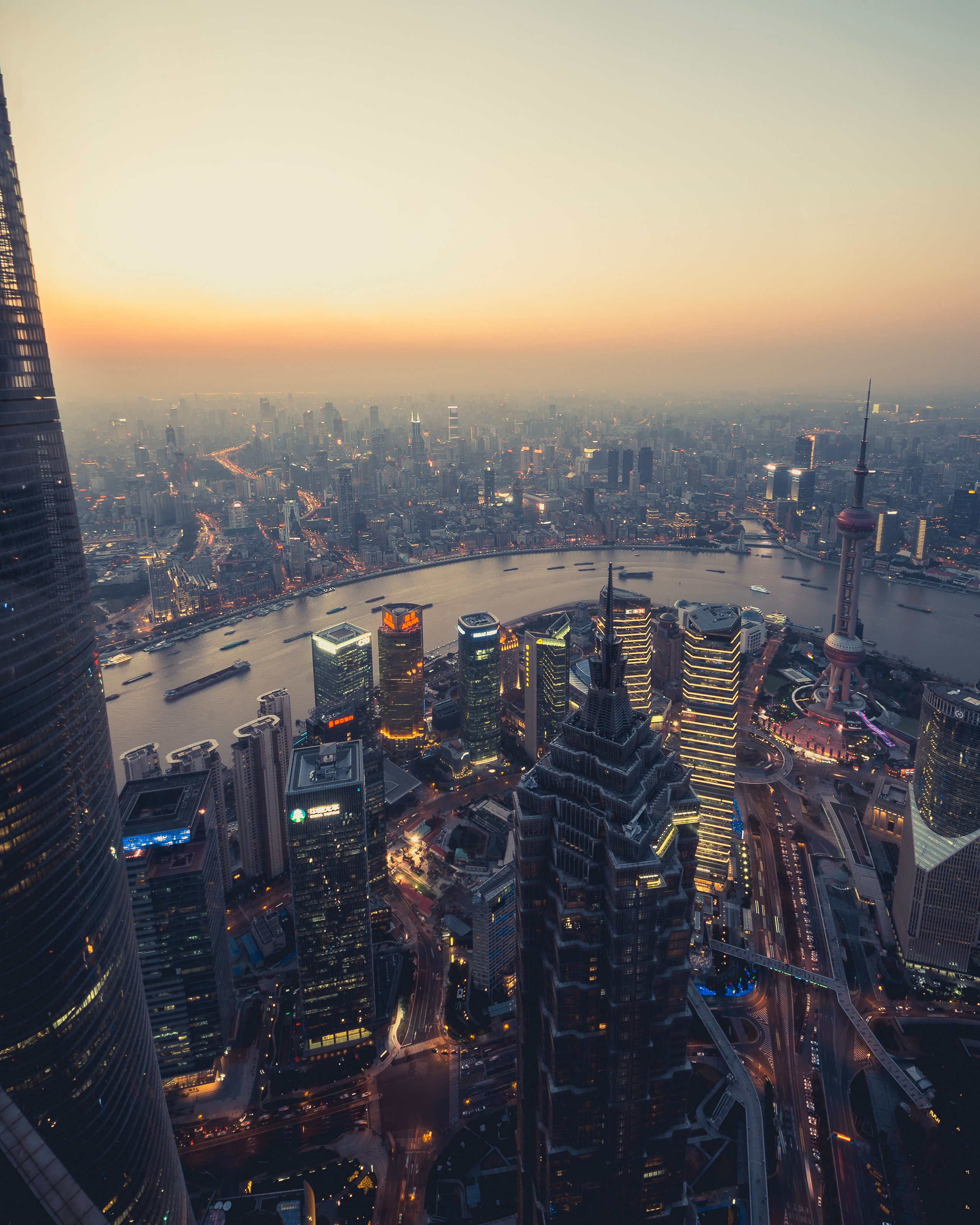 104292 Screensavers and Wallpapers Cities for phone. Download Cities, Rivers, City, Building, Megapolis, Megalopolis, Panorama, Smog pictures for free