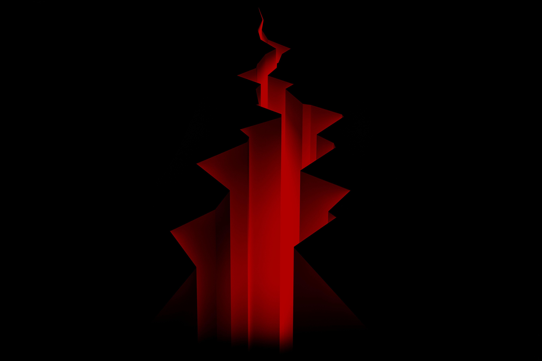 127789 скачать обои Темные, Линии, Полосы, Красный, Черный - заставки и картинки бесплатно