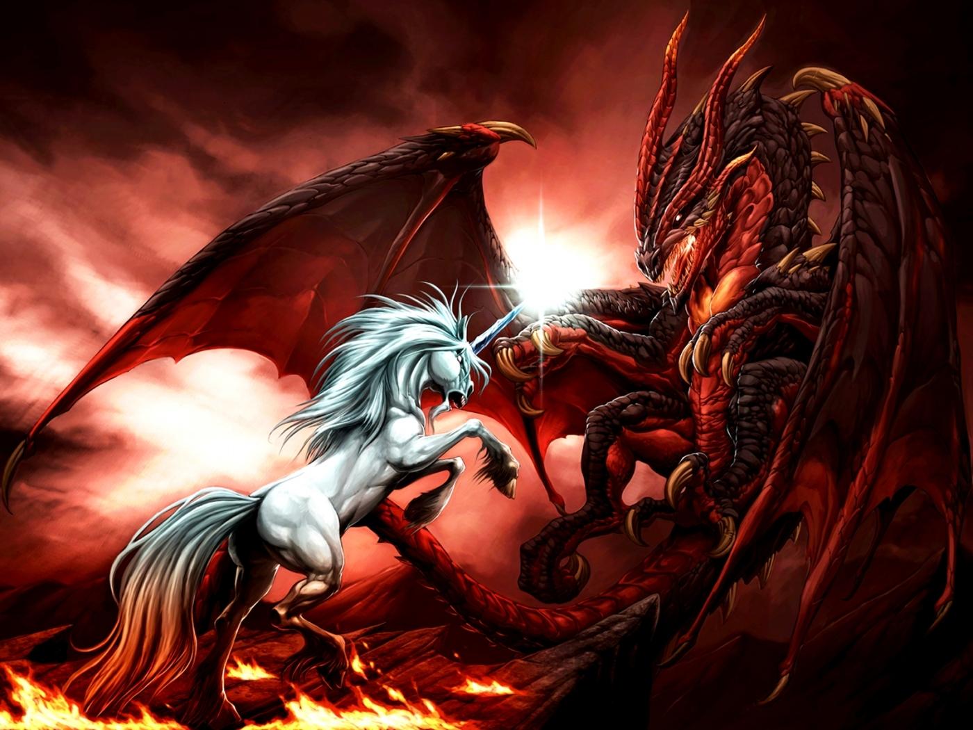 42589 Hintergrundbild herunterladen Unicorns, Bilder - Bildschirmschoner und Bilder kostenlos