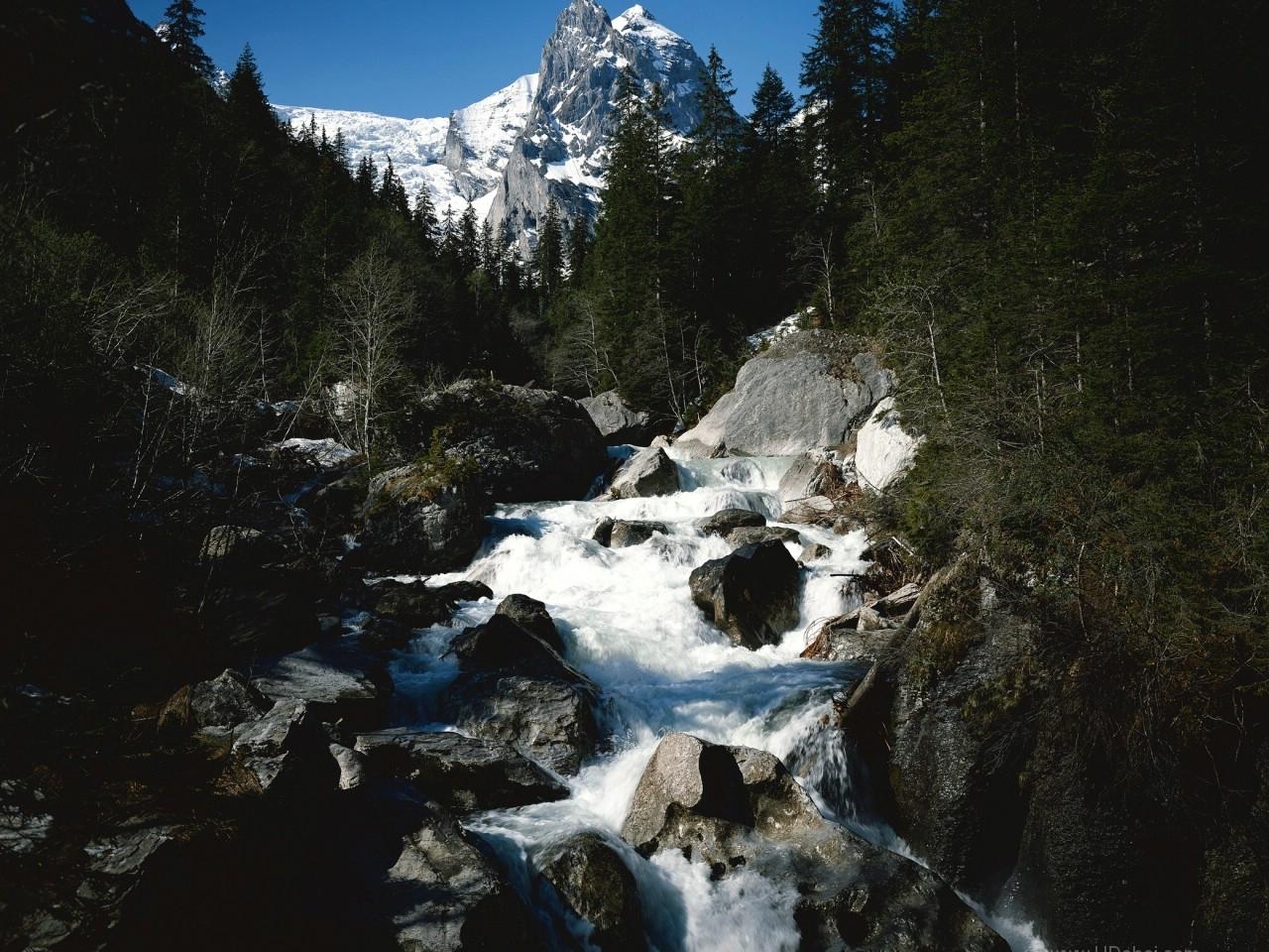 28208 télécharger le fond d'écran Paysage, Rivières, Montagnes, Cascades - économiseurs d'écran et images gratuitement