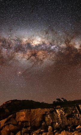 28420 скачать обои Пейзаж, Небо, Горы, Звезды, Ночь - заставки и картинки бесплатно