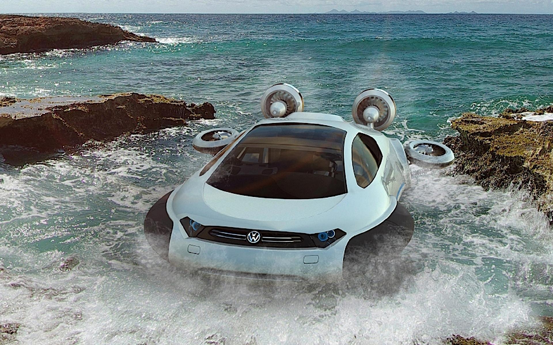 25683 скачать обои Транспорт, Машины, Море, Фольксваген (Volkswagen) - заставки и картинки бесплатно
