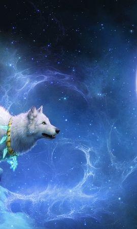 41380 télécharger le fond d'écran Loups, Fantaisie, Contexte, Lune - économiseurs d'écran et images gratuitement