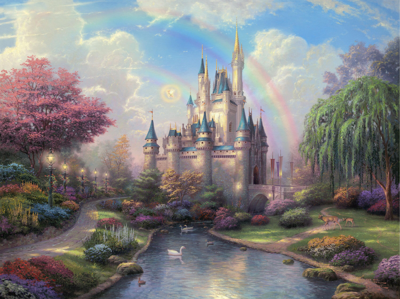 122623 télécharger le fond d'écran Art, Disneyland, Le Parc, Parc, Peinture, Fée, Fabuleux - économiseurs d'écran et images gratuitement