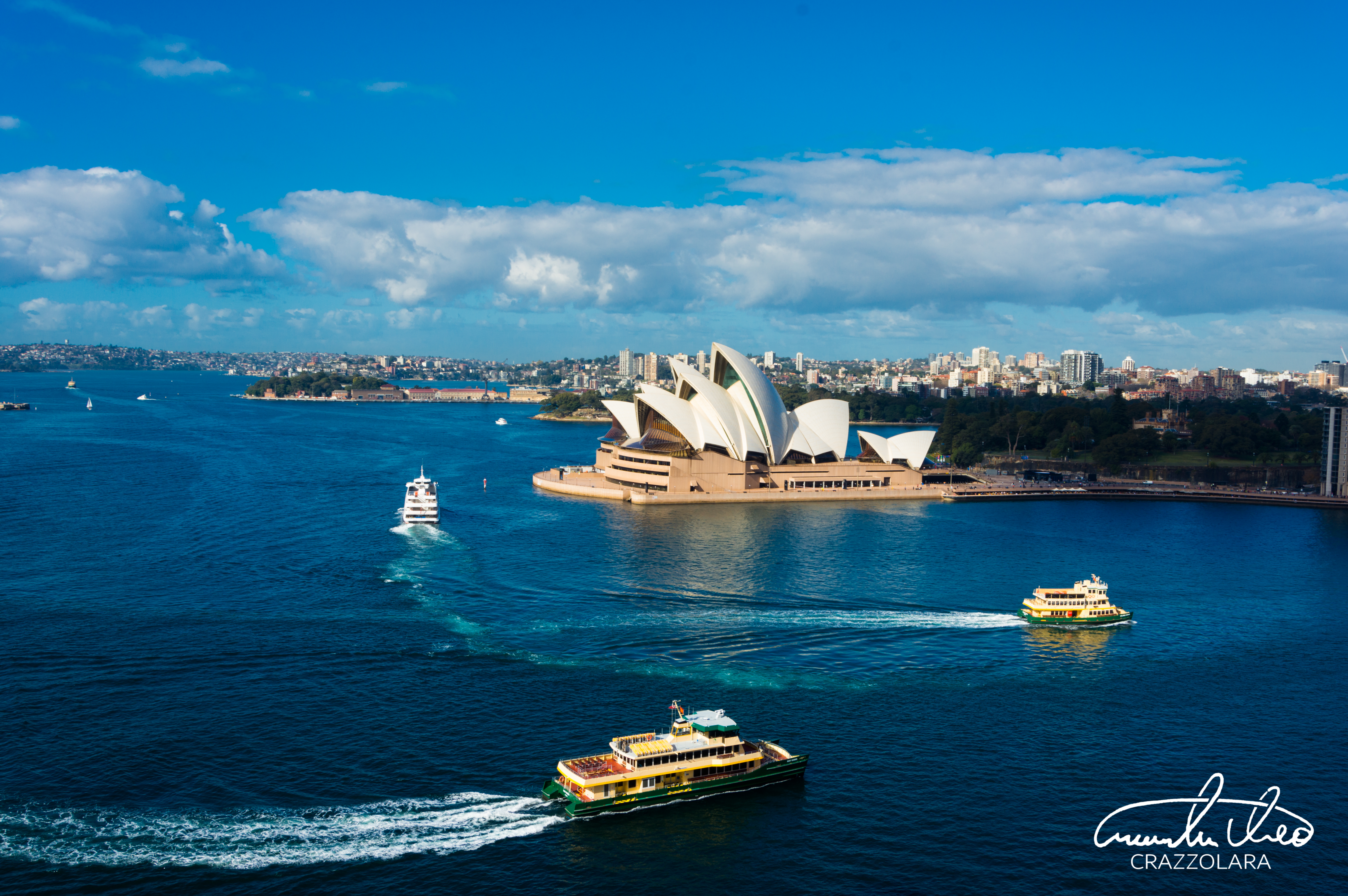 105262 download wallpaper Sydney Opera House, Theatre, Harbor, Ships, Sydney, Australia, Cities screensavers and pictures for free