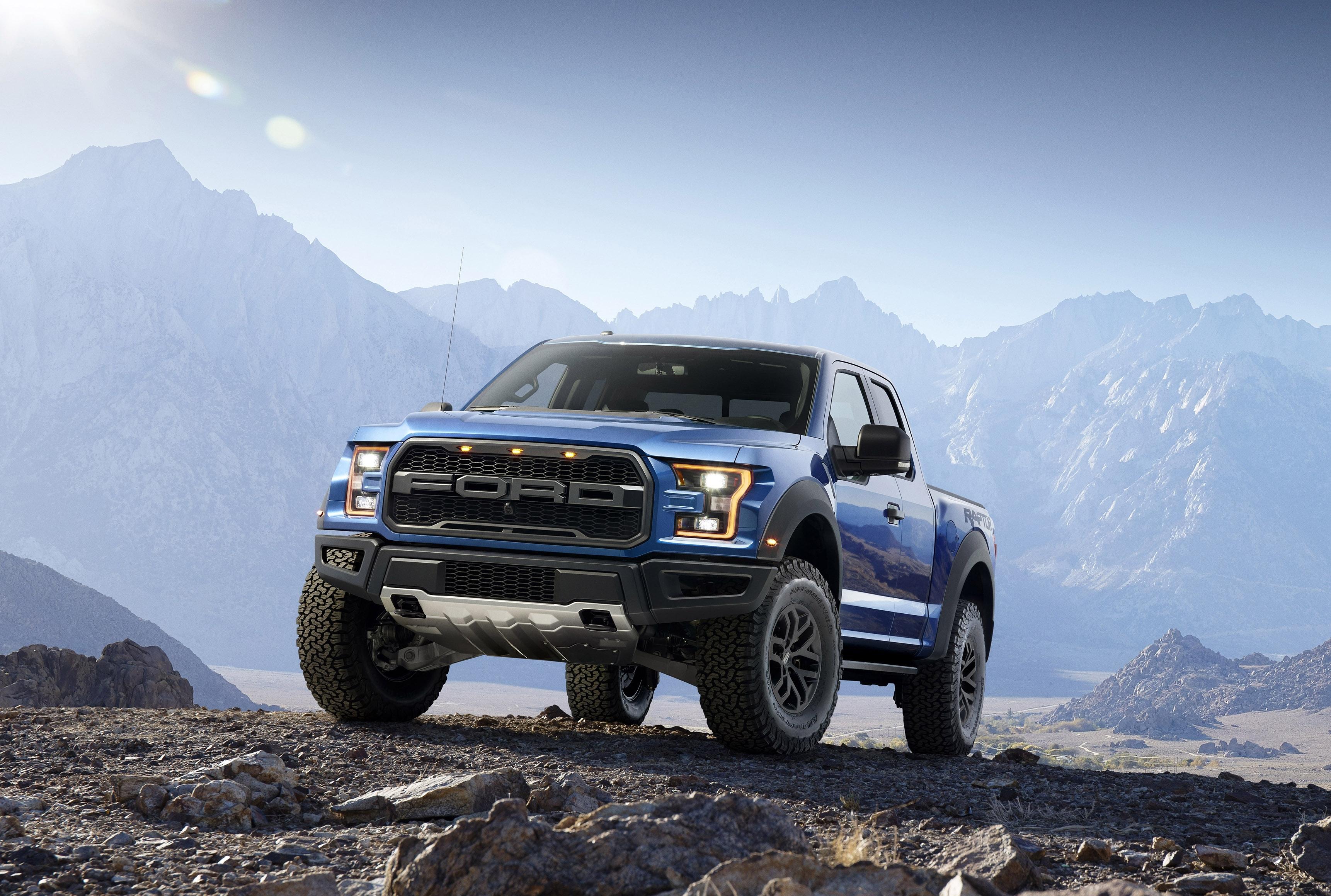 114371 Hintergrundbild herunterladen Stones, Ford, Cars, Abholen, Pickup, F-150, Raubvogel, Raptor - Bildschirmschoner und Bilder kostenlos