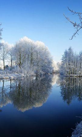 30404 скачать обои Пейзаж, Зима, Река - заставки и картинки бесплатно