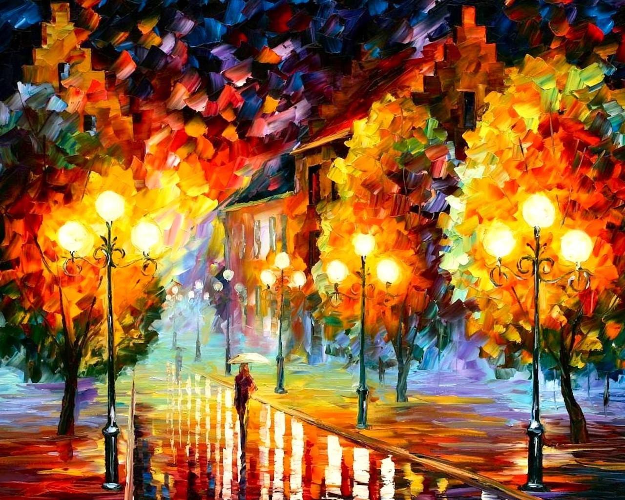 14314 скачать обои Пейзаж, Осень, Картины - заставки и картинки бесплатно