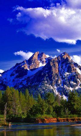 132115 скачать обои Природа, Гора, Пик, Вершина, Лес, Лето, Озеро, День, Пейзаж - заставки и картинки бесплатно