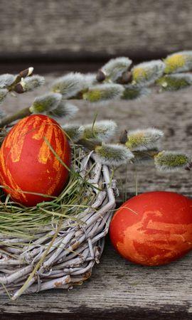 136900 скачать обои Праздники, Верба, Декорирование, Пасха, Яйца - заставки и картинки бесплатно