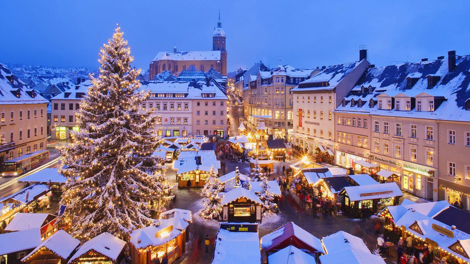 145871 Hintergrundbild herunterladen Weihnachten, Städte, Quadrat, Deutschland, Bereich, Markt - Bildschirmschoner und Bilder kostenlos